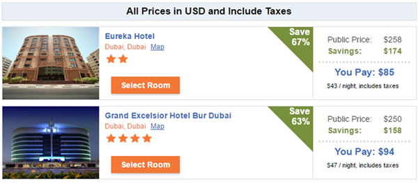 Hotel Savings in Dubai