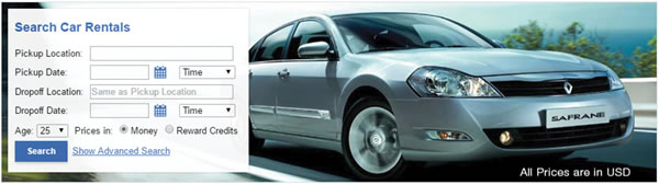 Search Car Rentals